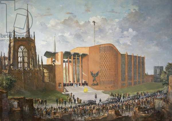 Consecration of the New Coventry Cathedral, 1962, 1964 (oil on canvas)