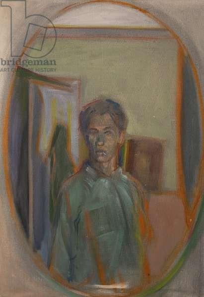 Self Portrait with Cigarette, 1966 (oil on canvas)