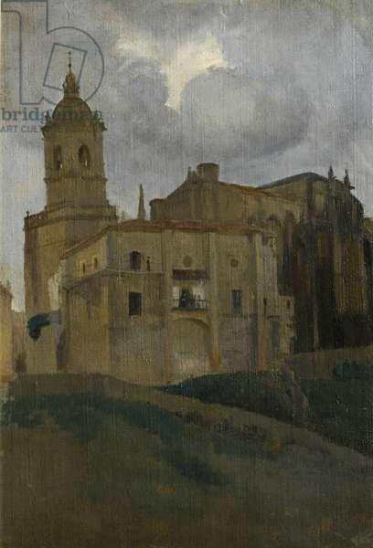 Italian Hill Town, 1908-1910 (oil on canvas)