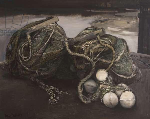 Fishing Nets, 1957 (oil on board)