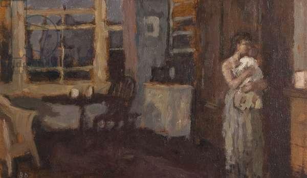 Dawn, 1958 (oil on board)
