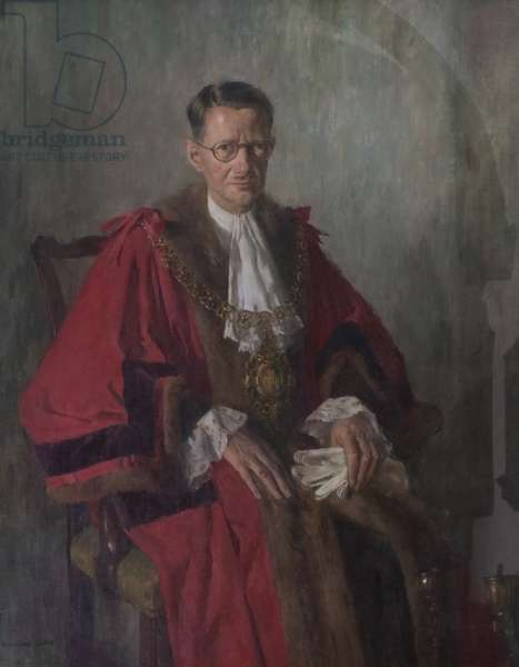 Alderman H. B. W. Cresswell (first Lord Mayor of Coventry, 1953), 1953 (oil on canvas)