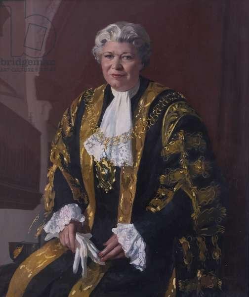 Alderman Mrs Pearl Hyde, MBE, JP, Lord Mayor (1957–1958), 1957-58 (oil on canvas)