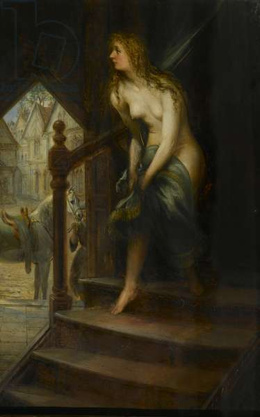 Godiva Disrobing to Ride Through Coventry, 1887 (oil on canvas)