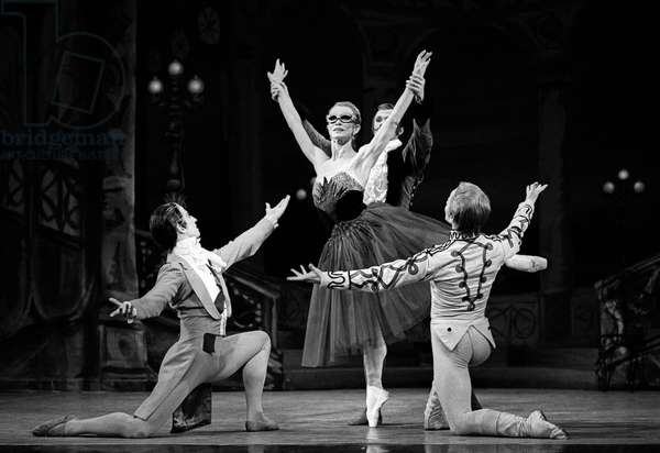 Birmingham Royal Ballet (formerly Sadler's Wells Royal Ballet). 'The Lady and the Fool' (b/w photo)