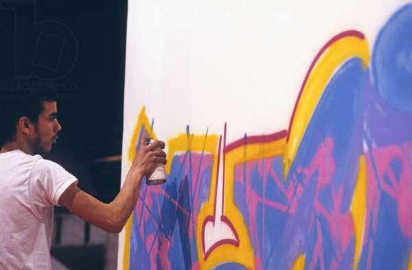 Brim Fuentes, graffiti artist (photo)