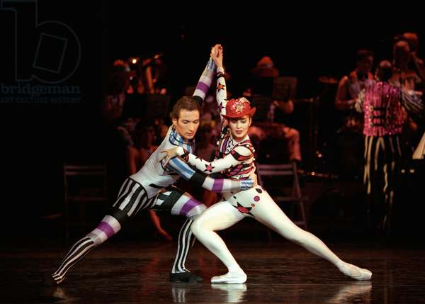 Leticia Müller and Kevin O'Hare in 'Elite Syncopations', Birmingham Royal Ballet at the Birmingham Hippodrome, 25th February 1998 (photo)