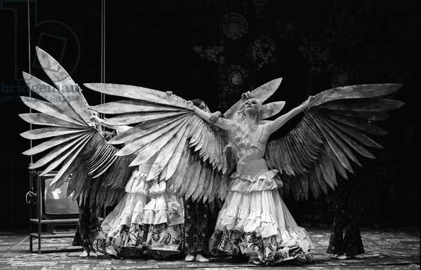 English National Ballet in 'Drop Your Pears and Hog It, Girl', 1986 (b/w photo)