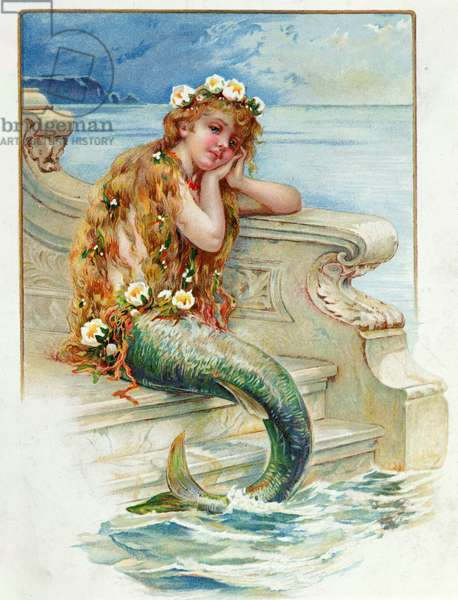 Little Mermaid, by Hans Christian Andersen (1805-75) (colour litho)
