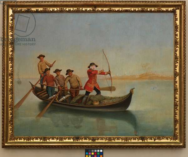 Hunting the Mergus (oil on canvas)