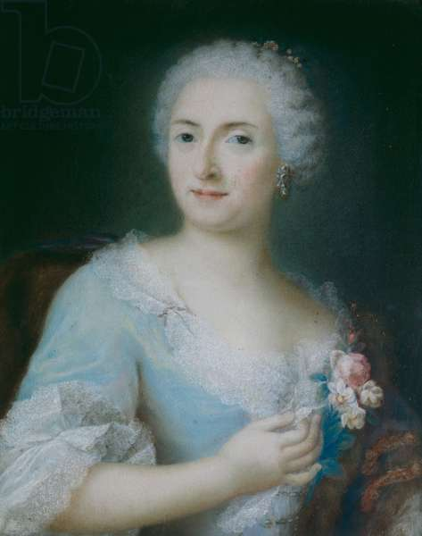 Portrait of a Lady (pastel on paper)