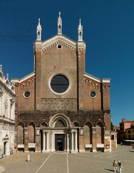 Main Facade of Chiesa dei Santi Giovanni e Paolo, Venice, Italy (photo)