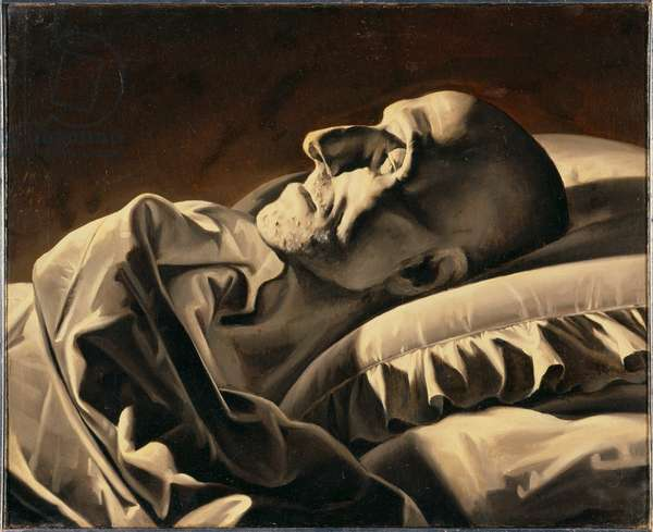 Canova on his deathbed, 1836 (oil on canvas)
