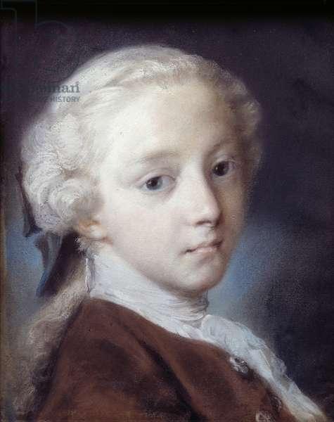 Portrait of a Boy, 1726 (pastel on paper)