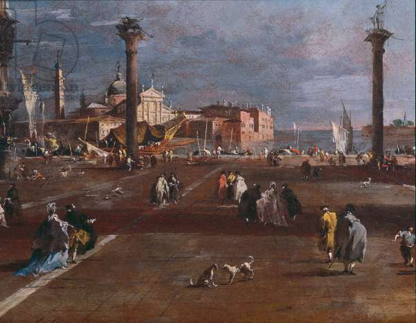 Detail of The Piazzetta (oil on canvas)