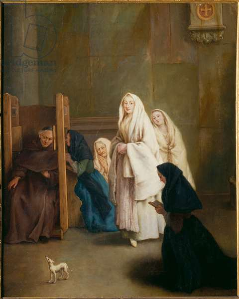 The Confession (oil on canvas)