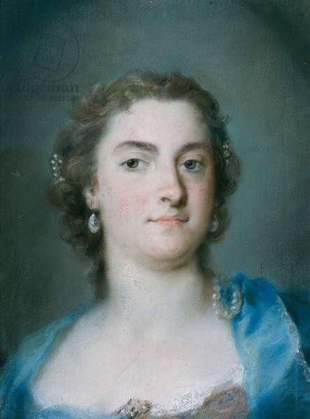 Portrait of Faustina Bordoni Hasse (pastel on paper)
