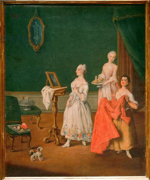 The Dressing Table (oil on canvas)