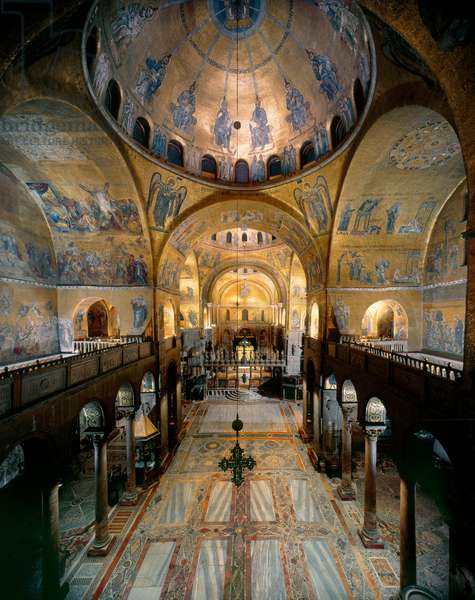 General View of St Mark's Basilica, Venice, Italy (photo)