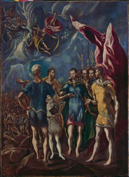 The Martyrdom of St. Maurice and the Ten Thousand Thebans (oil on canvas)