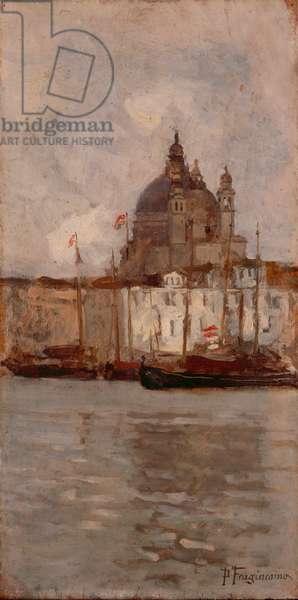 View of Santa Maria della Salute, 1884 (oil on board)