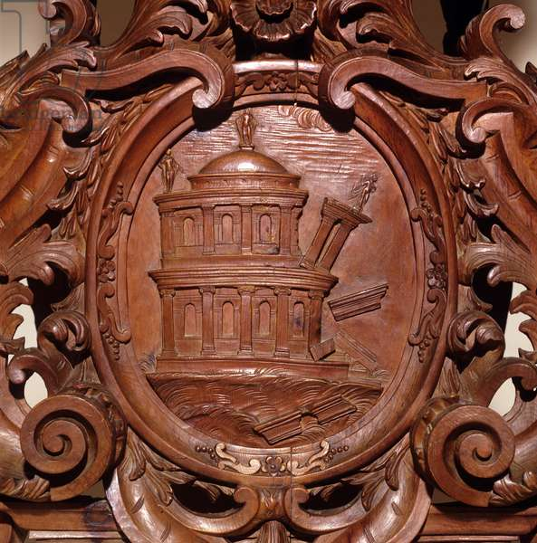 Detail of the statue of Saturn, c.1720 (wood)