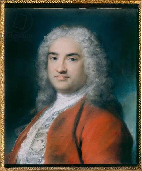 Portrait of a Gentleman, 1730 (pastel on paper)