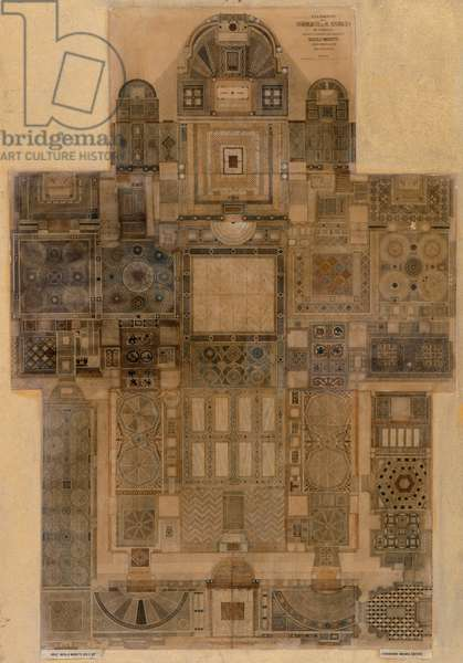 Plan of the flooring of St Mark's Basilica
