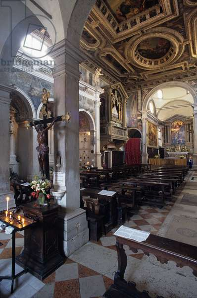 Interior View of Chiesa di San Sebastiano, Venice, Italy (photo)