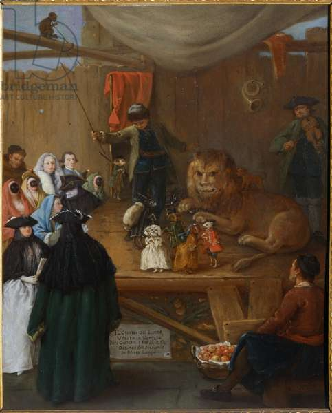 The Lion's Cage, 1762 (oil on canvas)