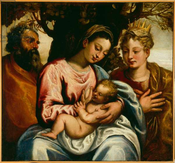 Holy family and Saint Catherine