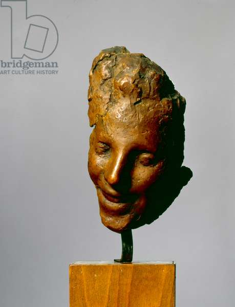 Smiling woman, 1890 (wax & plaster)