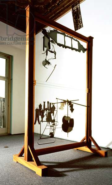 The Bride Stripped Bare by her Bachelors, Even (The Large Glass) reconstruction in collaboration with Ulf Linde (b.1929) 1961 (mixed media)