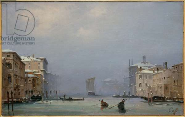 Snow and Fog on the Grand Canal, c.1840 (oil on canvas)