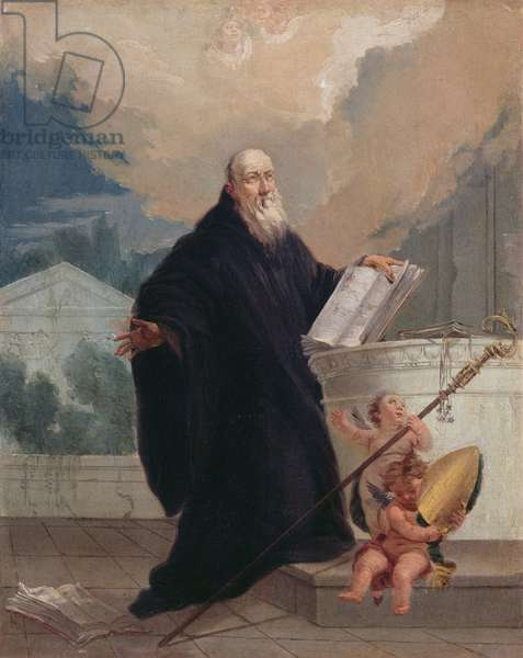St. Benedict (oil on canvas)