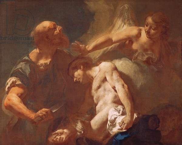 Sacrifice of Isaac (oil on canvas)