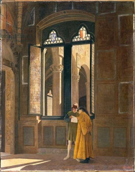 Palazzo Pretorio in Florence, 1865 (oil on canvas)