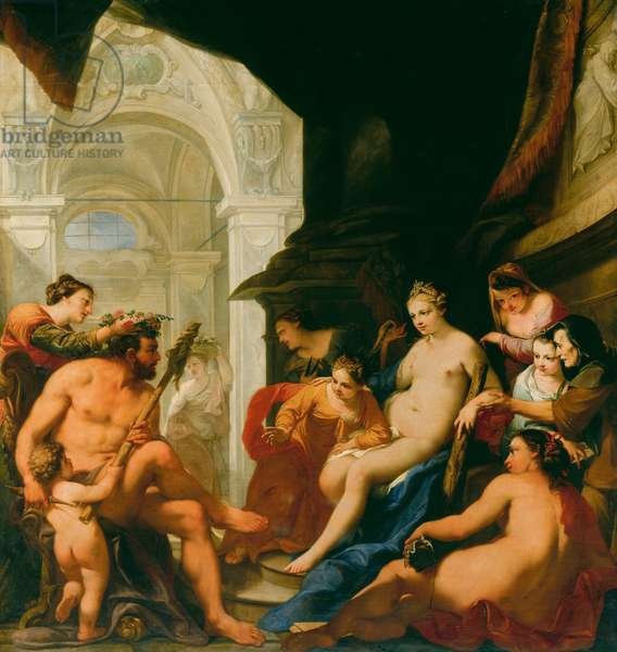 Hercules in the Palace of Omphale, c.1698 (oil on canvas)