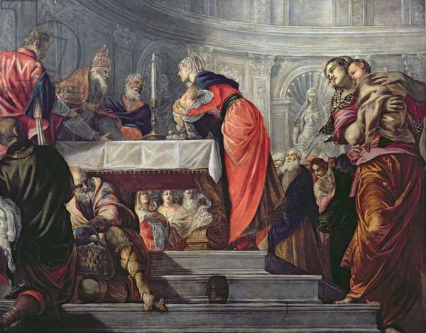 The Presentation of Jesus in the Temple (oil on canvas)