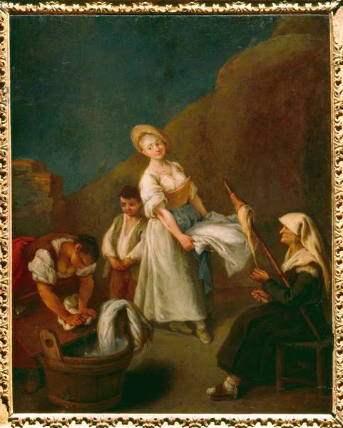 The laundresses (oil on canvas)