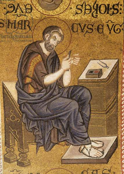 Mosaic of St Mark the Evangelist, Saint Mark's Basilica, Venice (photo)