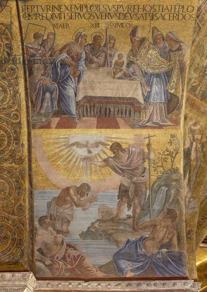 Presentation in the Temple and the Baptism of Christ (mosaic)