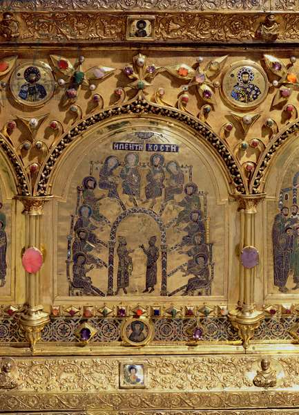 The Pala d'Oro, detail of the Pentecost (gold & enamel inlaid with precious stones)
