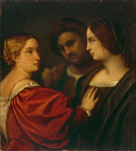 Three Figures (oil on canvas)