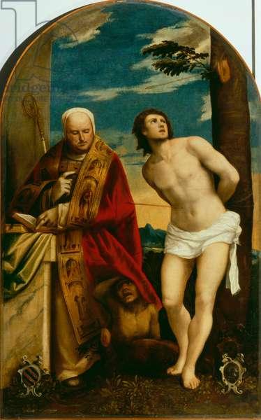 Saint Sebastian and Saint Bernard
