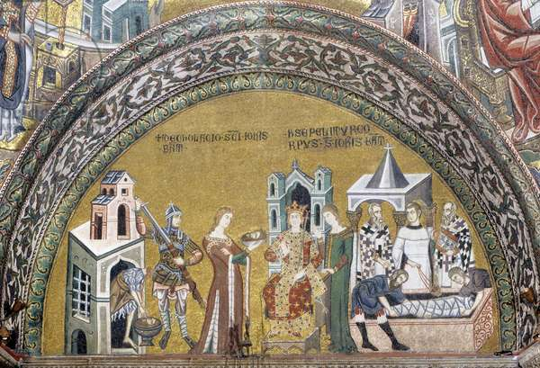 Mosaic of the story of St Mark, Saint Mark's Basilica, Venice (photo)