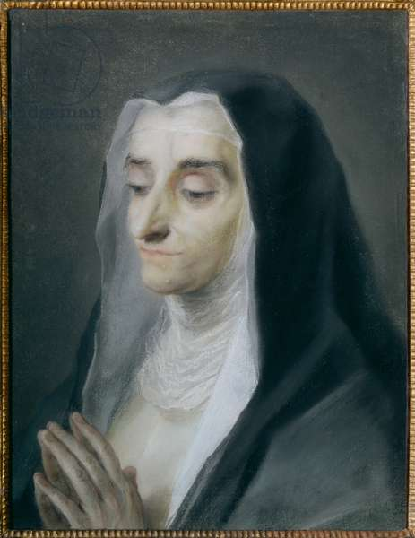 Portrait of Sister Maria Caterina (pastel on paper)