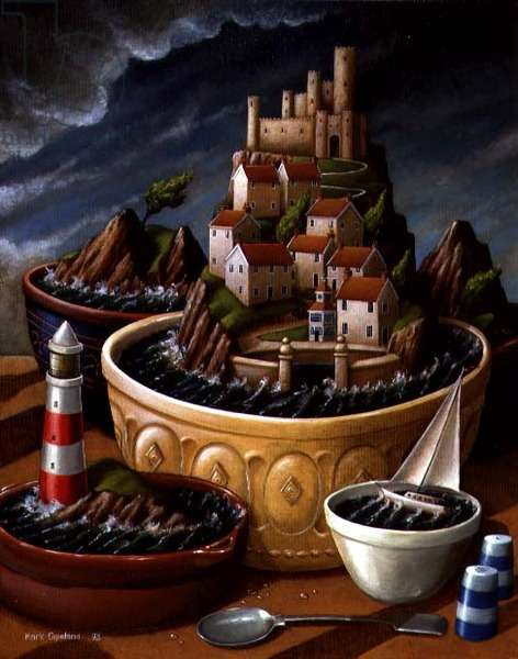Storm in a Teacup, 1993 (oil on canvas)