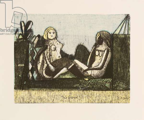 The Sisters, 2014 (mokulito lithographs with hand colouring)