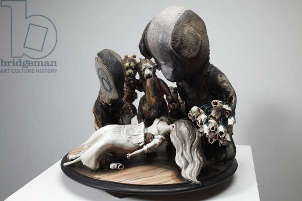 Snow White, 2010 (wood, lino, plaster, clay, fabric, paint)